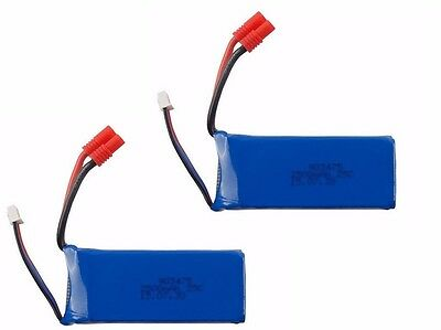 2x7.4V 2500mAh 25C High Capacity Battery Fr Syma X8C/W/G RC Helicopter Drone UK • 27.90£