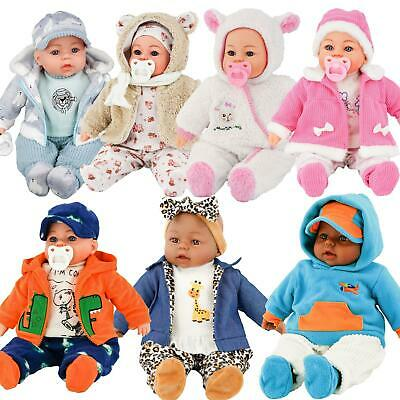18  Lifelike Large Soft Bodied Baby Doll Girls Boys Toy With Dummy & Sounds • 14.99£