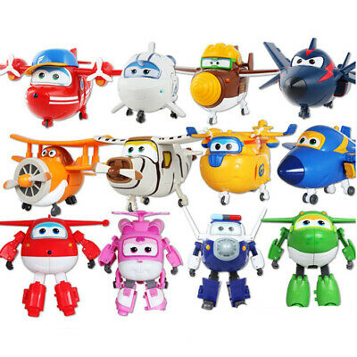 12pcs Animation Super Wings Airplane Transformable Robot Action Figures Toy Gift • 14.99£