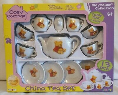Cosy Cottage Children's Porcelain China Tea Set - BNIB • 10.99£