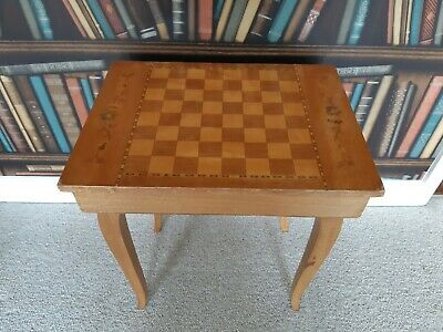Sorrento Ware Inlaid Marquetry Sewing Table Chess Board Music Box • 10£