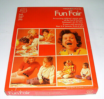 Waddingtons Funfair Board Game - 1974 - Good Used Condition • 10£