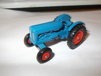 RARE VINTAGE MATCHBOX MASSEY HARRIS BLUE TRACTOR No 72 MINT RED WHEELS • 29.99£