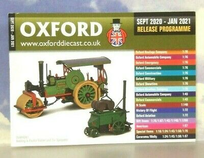 Oxford Diecast 48 Page Pocket Catalogue September 2020 To January 2021 Schedule • 1.75£