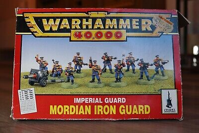 Warhammer 40K Imperial Guard Mordian Iron Guards  ☆RARE☆ • 15£