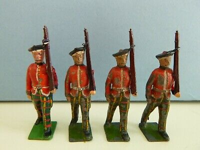 Vintage Britains Lead Soldiers - Royal Scots Soldiers Marching Scottish • 5.50£