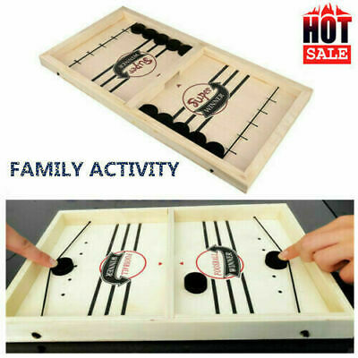 Wooden Hockey Game Table Game Family Fun Game For Kids Children 100% NEW • 7.39£