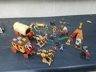 Timpo Cavalry Cowboys And Indians Job Lot • 13.50£