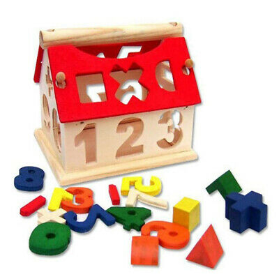 Baby Toddler Wooden Number House Toys DIY Early Learning Educational Game Gift • 7.29£