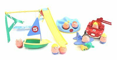 Vintage/Retro Plastic WEEBLES SET - Figures, Boat, Helicopter & Fire Truck - R07 • 4.99£