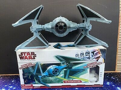 Star Wars Action Figure Legacy Collection Vehicle -  Tie Interceptor With Pilot • 1.99£