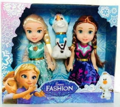 3PC Frozen 2 Toy Snow Princess Doll Toy Doll New Year Christmas Gift 18cm • 9.26£