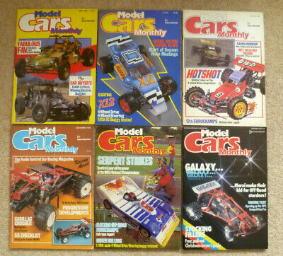 6 RARE VINTAGE 1985 Remote Control RC Model Cars Monthly Magazines FAV + Poster • 25.95£