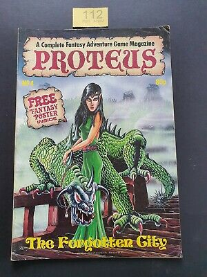 Proteus Magazine # 4 Fantasy Adventure Game Magazine Including Free Poster 1986 • 9.99£