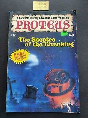 Proteus Magazine # 7 Fantasy Adventure Game Magazine Including Free Poster 1986 • 17.99£