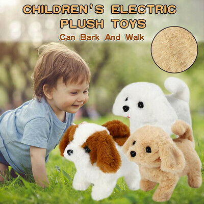 Electric Imulation Plush Fluffy Toy  Walking Puppy Pet Barking Sounds Dog Cute • 8.99£