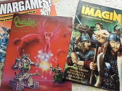 Imagine, Questar And Wargames Magazines • 12.99£
