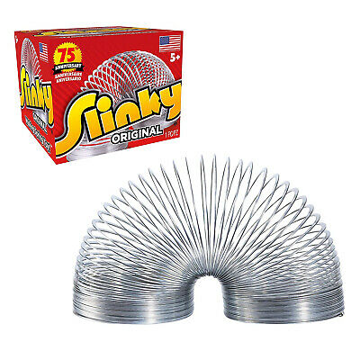 Original Slinky Walking Spring Toy Can Walk Down Slopes Or Stairs Slinkity Sound • 10.76£