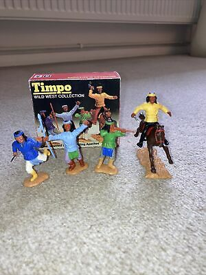 Timpo Apache Indians With Timpo Box • 49.99£