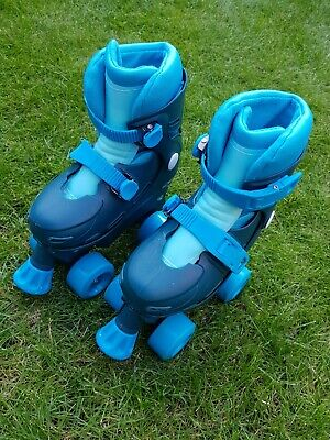 Chad Valley Quad Roller Skates Fits Shoe 10-13 Blue Age 3+ Excellent Condition • 14.99£