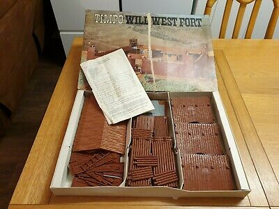 Timpo Wild West Fort - Part Set Fair Condition Boxed • 95£