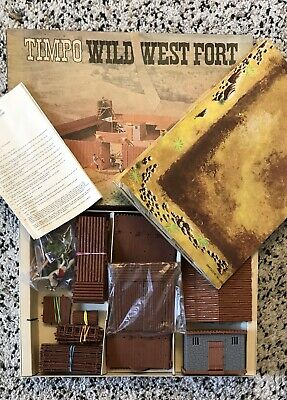TIMPO TOYS VINTAGE USA 7th CAVALRY BOXED WILD WEST FORT WORTH SET COMPLETE RARE • 349£