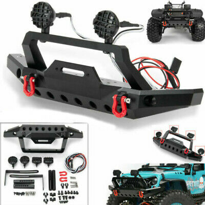Metal Front Bumper W/ Led Light For 1/10 Scale RC Crawler TRX-4 T4 Sport TF2 Car • 17.09£