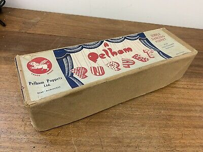 EARLY Vintage 1950's Girl PELHAM PUPPET BOXED VINTAGE TOY • 36£