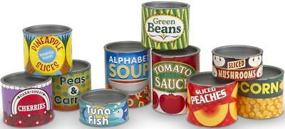 Melissa & Doug CANNED FOOD SET Pretend Play Toy/Gift Toddler/Child BN • 11.37£