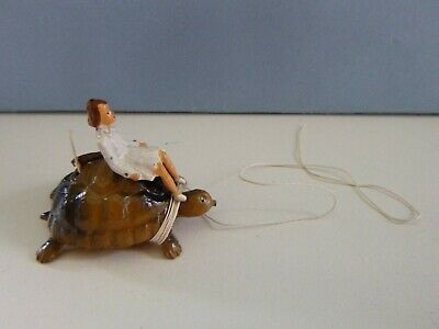 Vintage Rare Taylor And Barrett Lead Giant Tortoise Zoo Ride With Girl & String • 25£