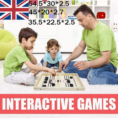 Fast Sling Puck Table Game Paced Sling Winner Hockey Board Family Child Toys UK • 15.99£
