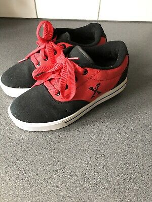 Red / Black Heely's Worn Once Indoors. MINT CONDITION UK 2 Ideal For Xmas   • 12£