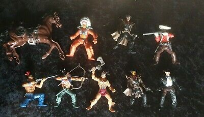 Large 4 Inch Cowboys And American Indians  Chap Mei Figures • 15£
