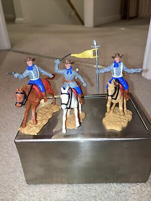 Timpo Confederate Mounted Cavalry Soldiers • 14.99£