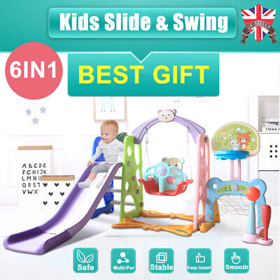 Toddler Climber Slide Play Swing Set Indoor/Outdoor Kids Playground Boy Girl Toy • 79.99£