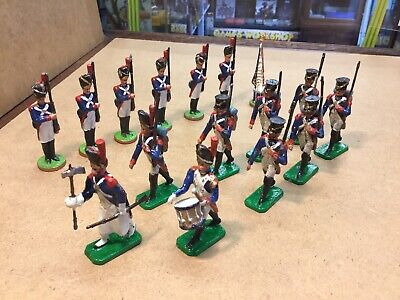 Napoleonic French Imperial Guards /Infantry Metal Toy Soldiers Lot 54mm Britains • 14£