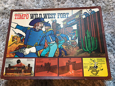 TIMPO TOYS VINTAGE USA 7th CAVALRY BOXED WILD WEST FORT WORTH SET EXC RARE • 275£