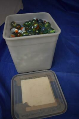 Glass Marbles 6.3Kg Vintage Various Sizes & Colours • 4.99£