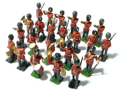 23 Vintage Diecast Lead Toy Soldiers Playing Band Instruments LOT Playworn • 25£
