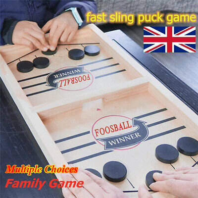 Hockey Game Sling Puck Game Table Board Game Family Fun Game Kids Christmas Gift • 0.99£
