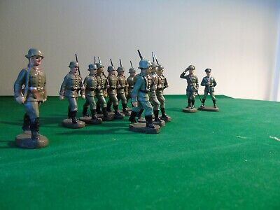Elastolin German Soldiers And Officers • 80£