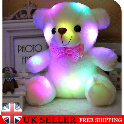 LED Teddy Bear Dolls Toy Children's Flashing Lights Glow Doll Kids Birthday Gift • 8.39£