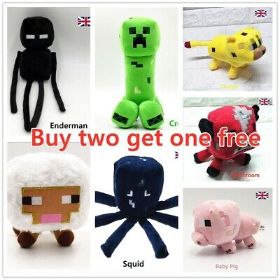 Minecraft Plush Toy Creeper Stuffed Animal Soft Plush Kids Birthday Gift UK New- • 14.99£