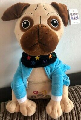 Presley The Pug Soft Cuddly Toy With Zipped Pocket Created By Dr Karen Treisman • 17.99£