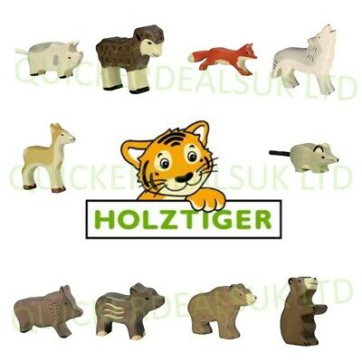 Holztiger Handmade Collectable Painted Wooden Farm & Forest Animal Toy Figurines • 7.99£