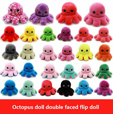 Double-Sided Flip Reversible Octopus Plush Toy Marine Life Stuffed Animals Doll • 6.29£