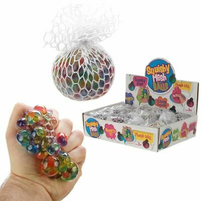 Squeezable Rainbow Ball In A Net, Christmas Gift/Present/Stocking Filler • 1.50£