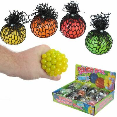 Squeezable Ball In A Net, Christmas/Birthday Gift/Present/Stocking Filler • 0.99£