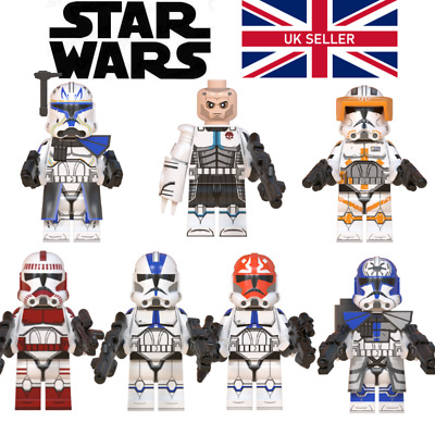 Star Wars Commander Rex Cody Jesse - LEGO Compatible Clone Troopers 501st 322nd • 2.99£