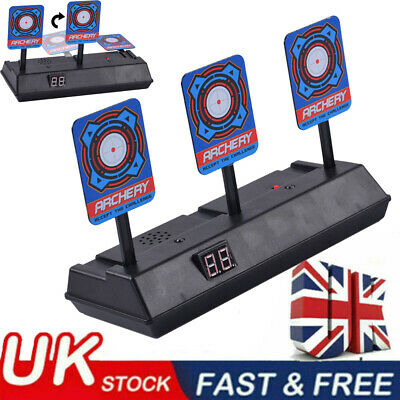 UK Electric Scoring Auto Reset Shooting Digital Target For Soft Bullet Gun Toy • 10.99£